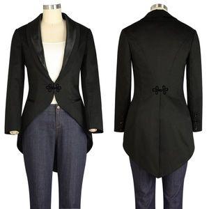 Jackets & Blazers - Plus Size Long Tail Jacket Cosplay Coat Gothic